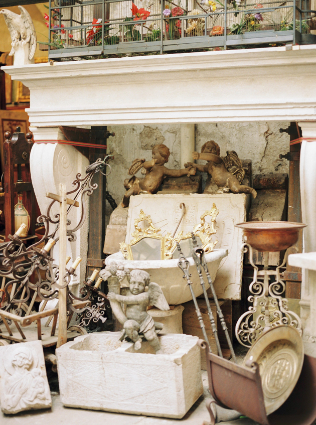 Antique shop styled shoot in Florence