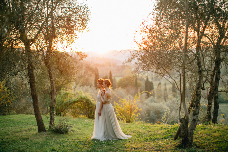 Bridal shoot in Orvieto