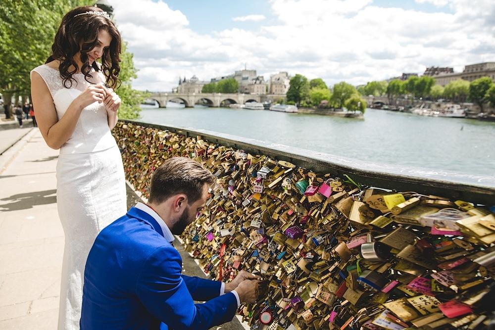Мост Влюбленных, Париж. Фотограф Ольга Литманова