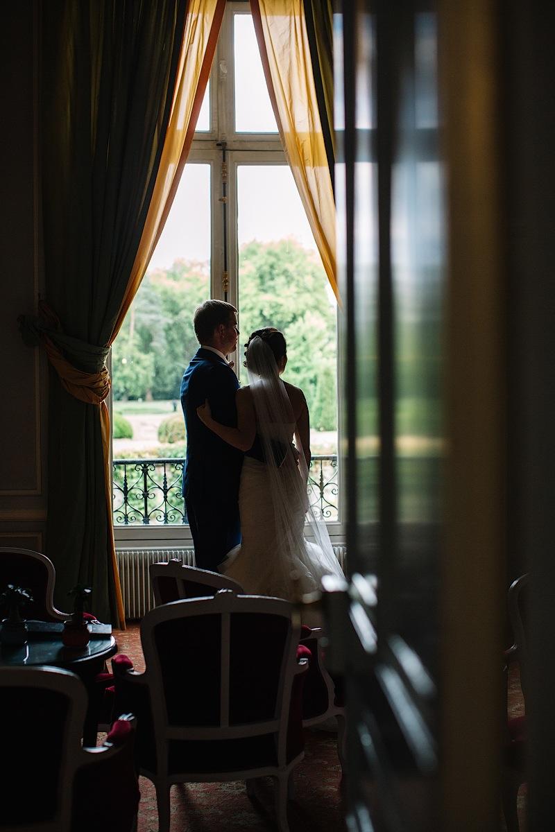 Роскошный вид из окна Château d'Esclimont