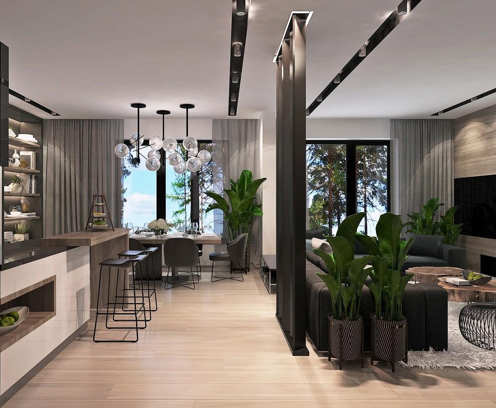 Мария Шубина Вероника Добрякова кухня гостиная дизайн интерьера отель