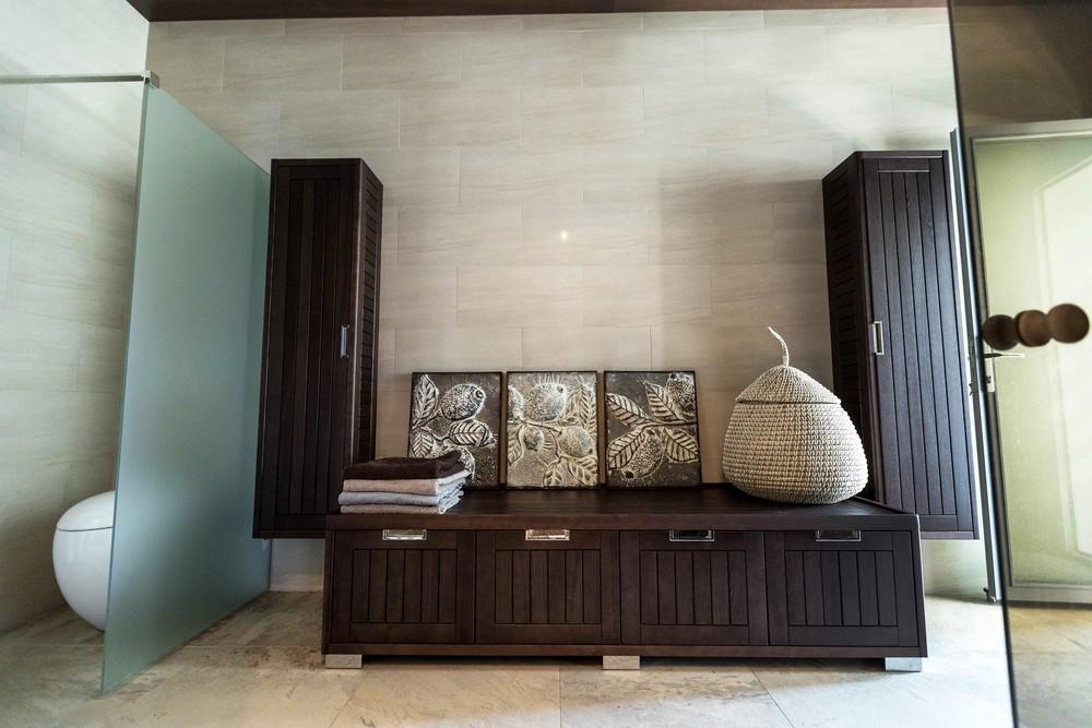 Мария Шубина, дом, сауна, деревянная мебель для ванной, спа зона, хамам