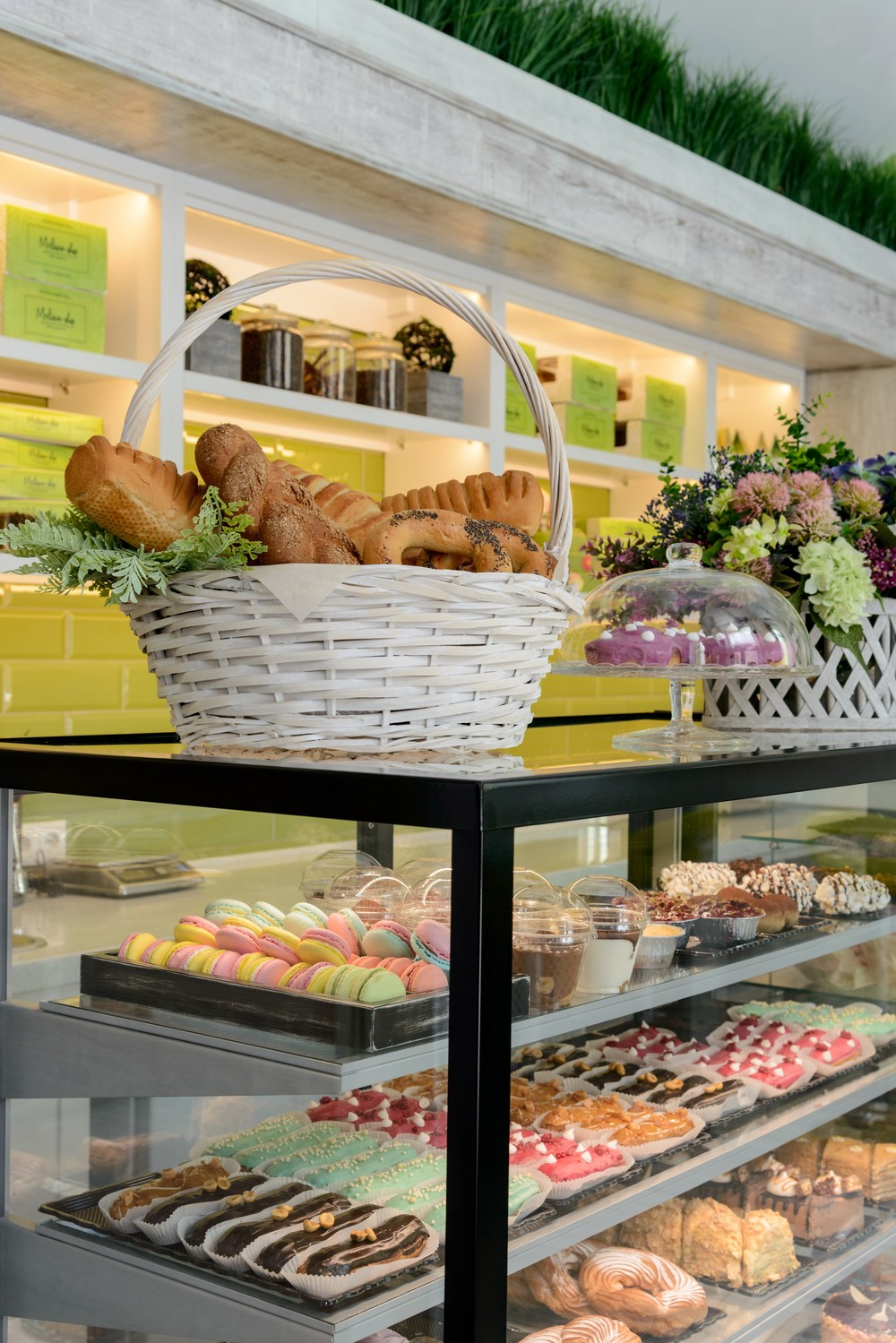 интерьер магазина, хлеб