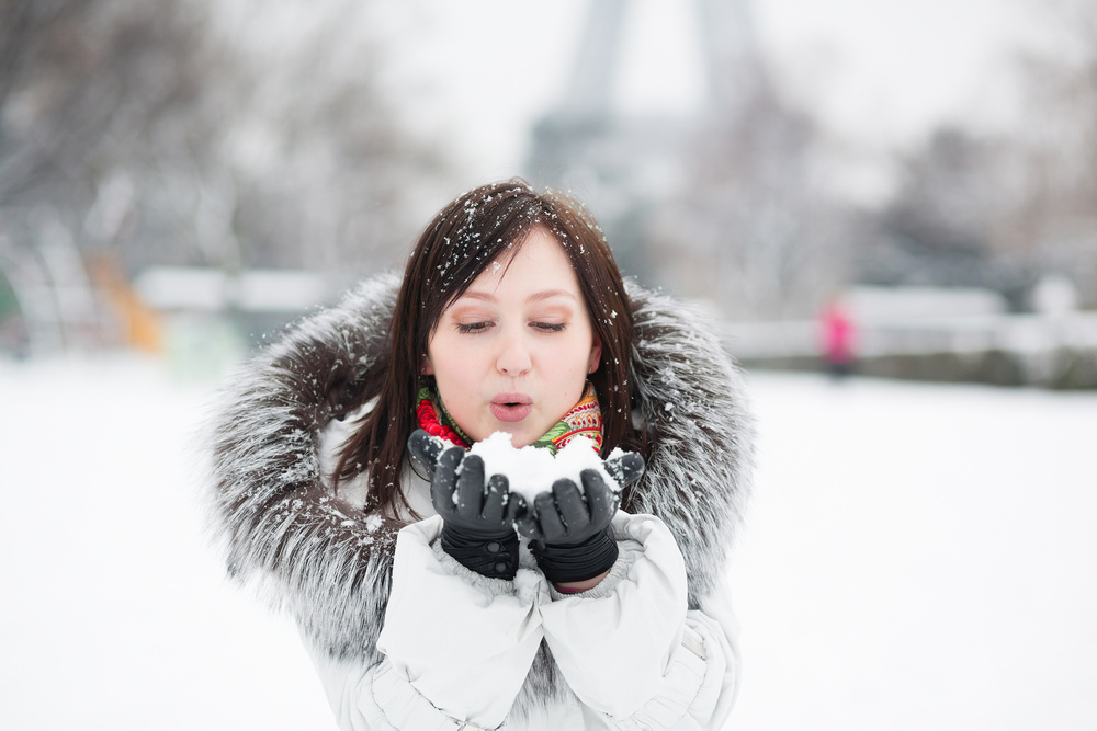 Snowy day in Paris