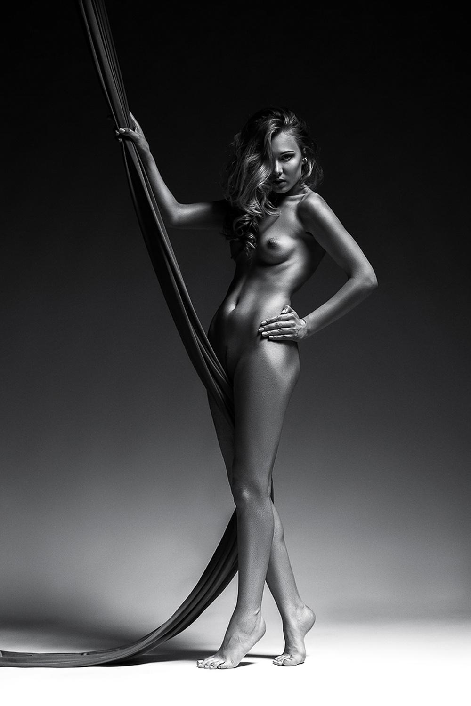 silver nude, проекты фотостудии FULLFRAMEFOTO, ню