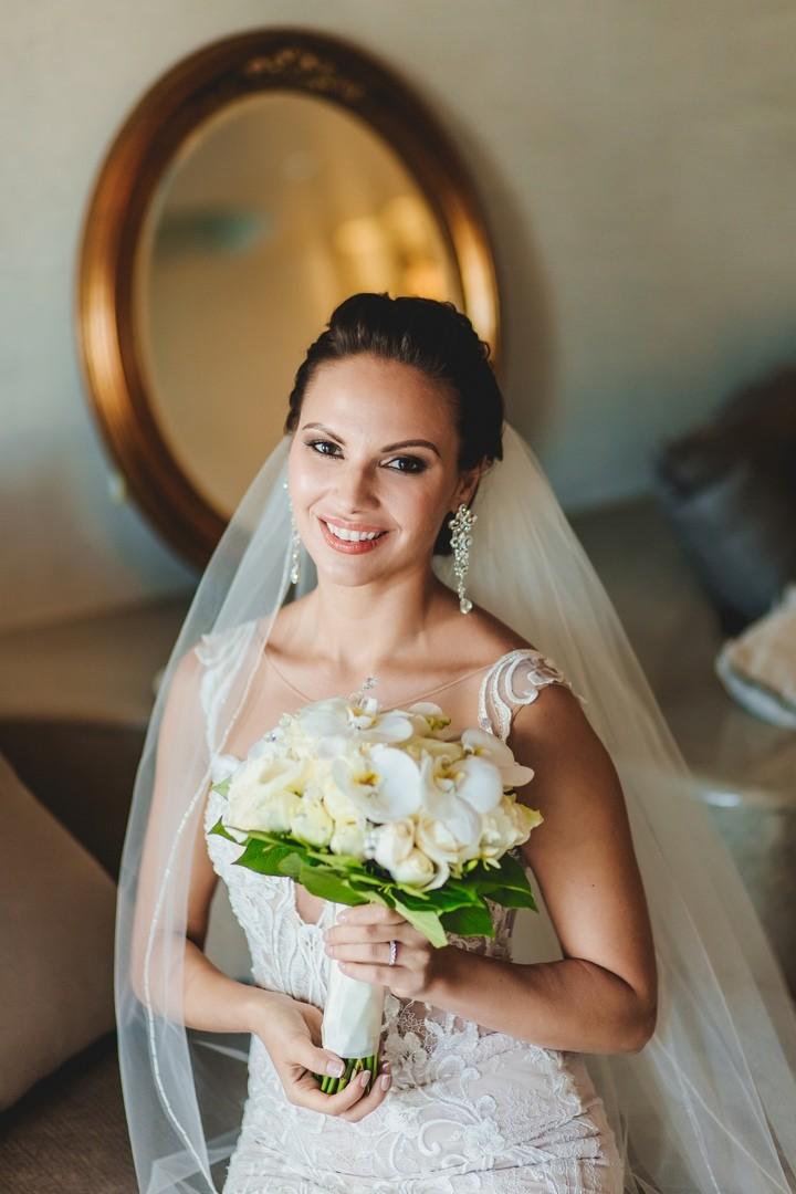 букет невесты санторини