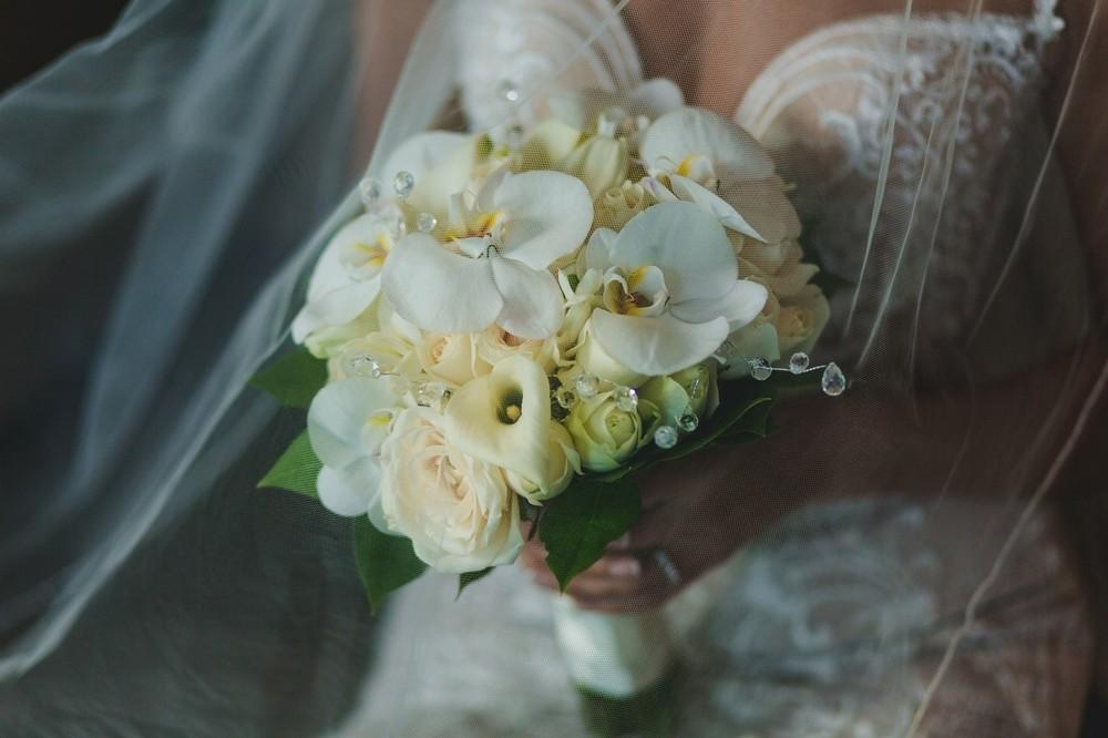 свадебный букет санторини