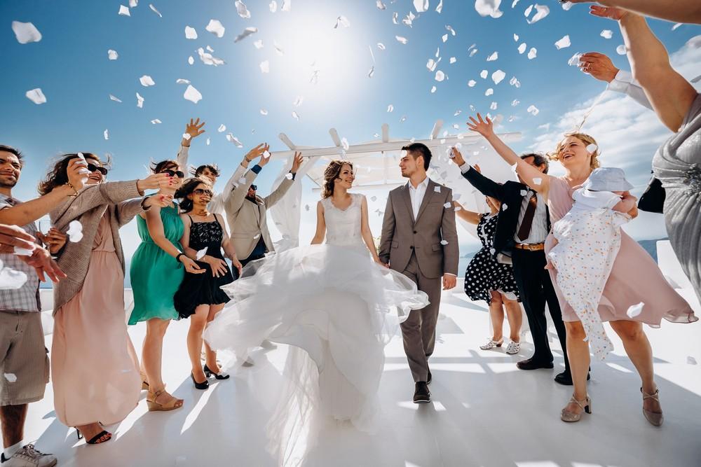 свадьба на площадке andromeda villas санторини