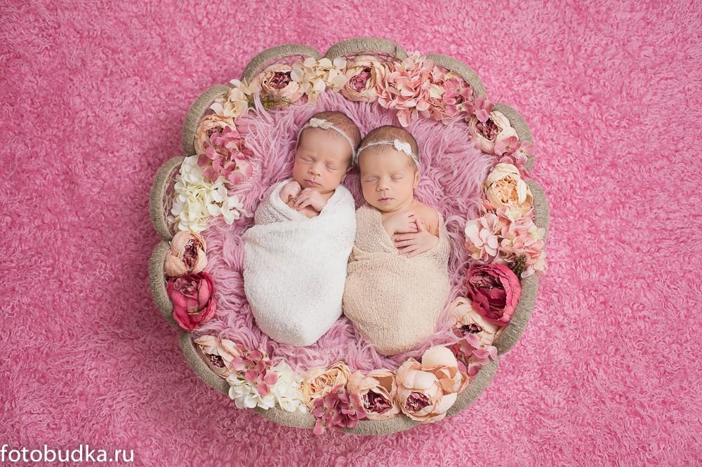 фотосессия двойняшек