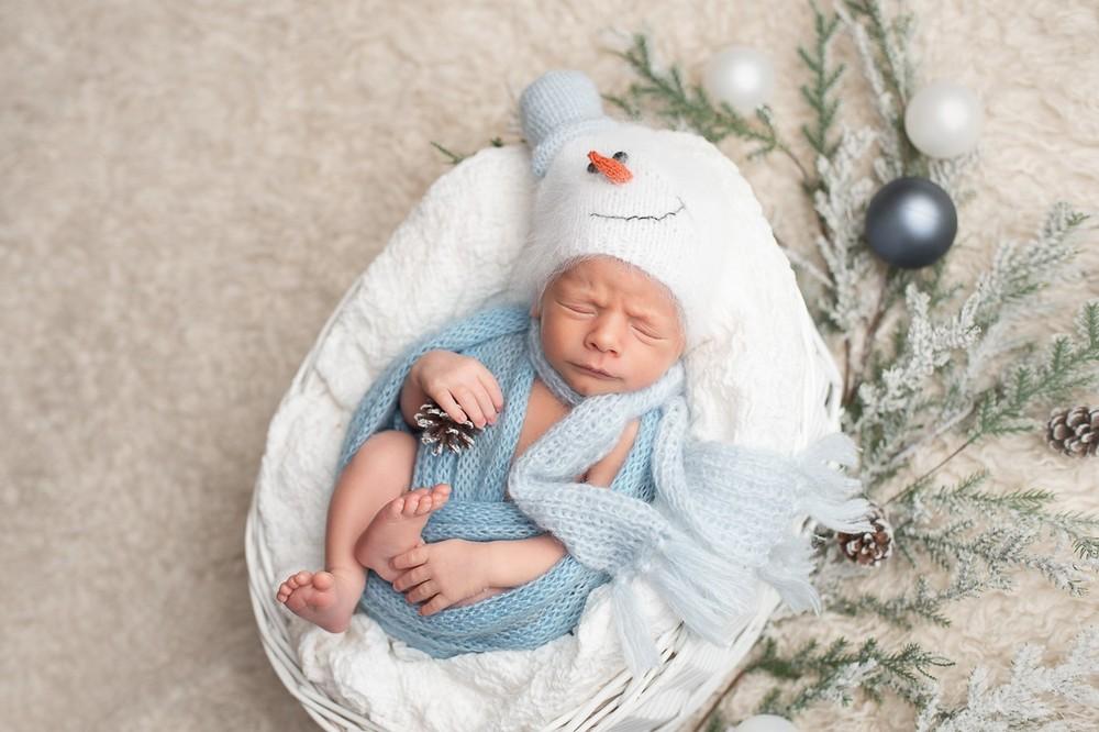 новогодний образ новорожденного