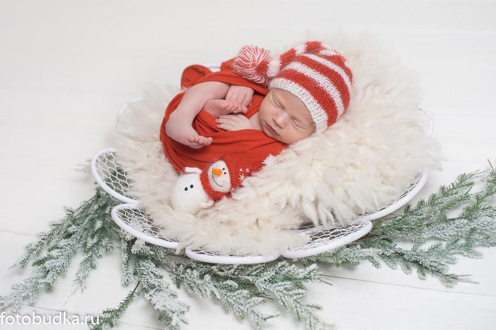 новогодний образ для новорожденного