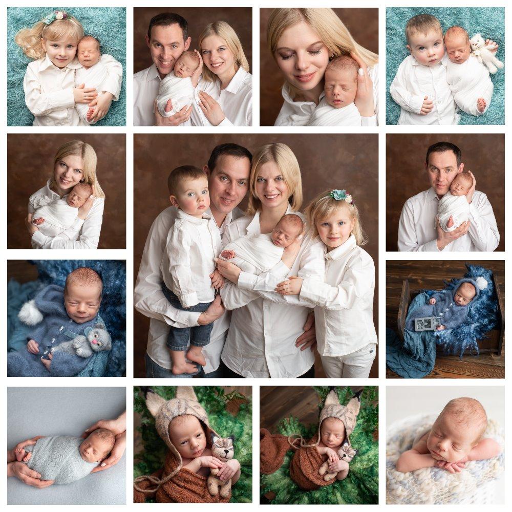 фотосессия новорожденных малышей дома