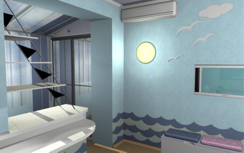 «Blue in the sky» детская для мальчика  2008 год, г. Пермь