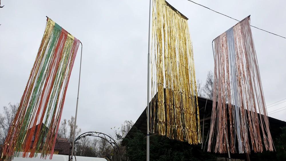 блестящие флаги для вечеринок