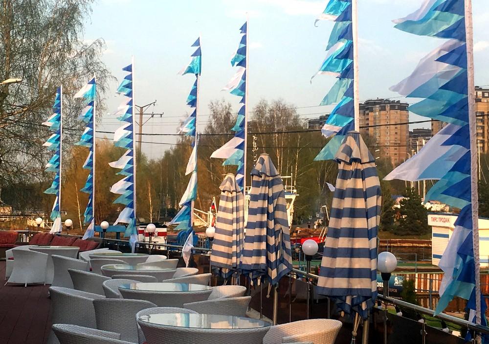 свадебные флаги морские