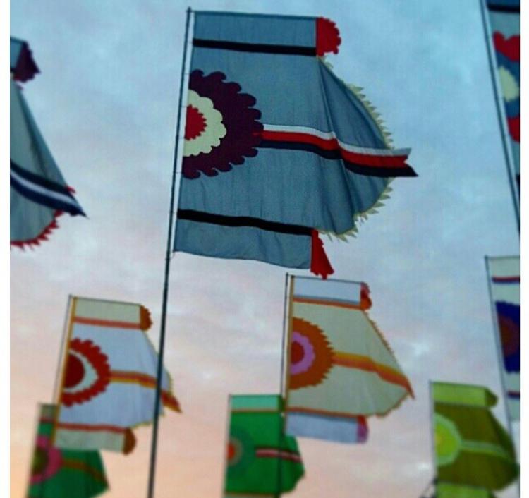 фестивальные флаги 7 метров