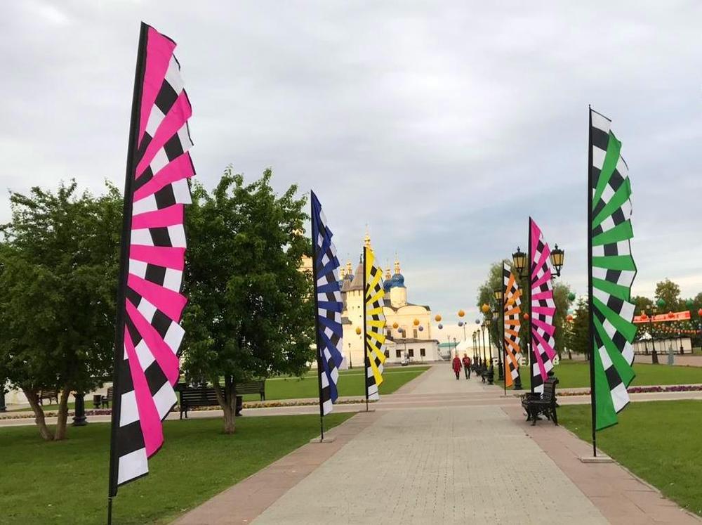 фестивальные флаги геометры