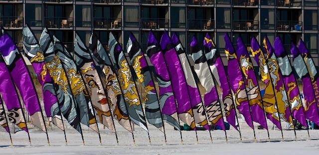 модные флаги панно аренда флагов