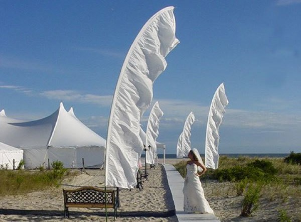 оформление свадьбы флагами