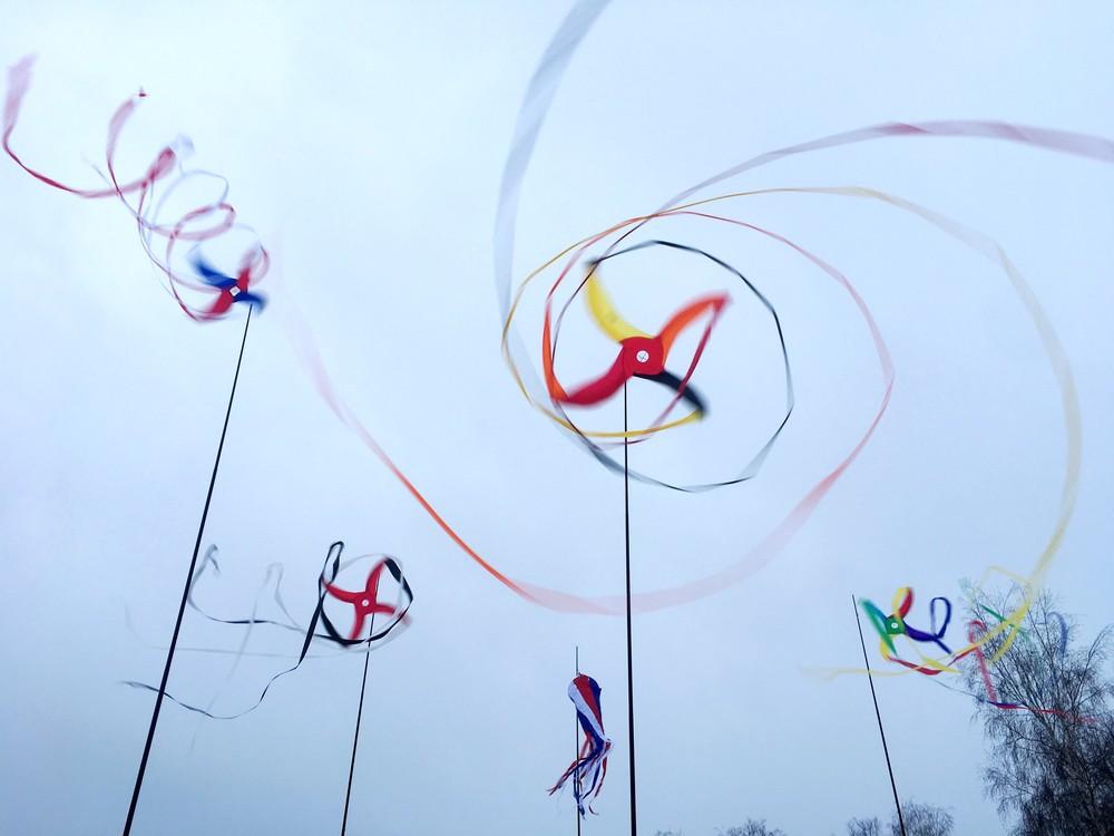 флаги вертушки для мероприятия