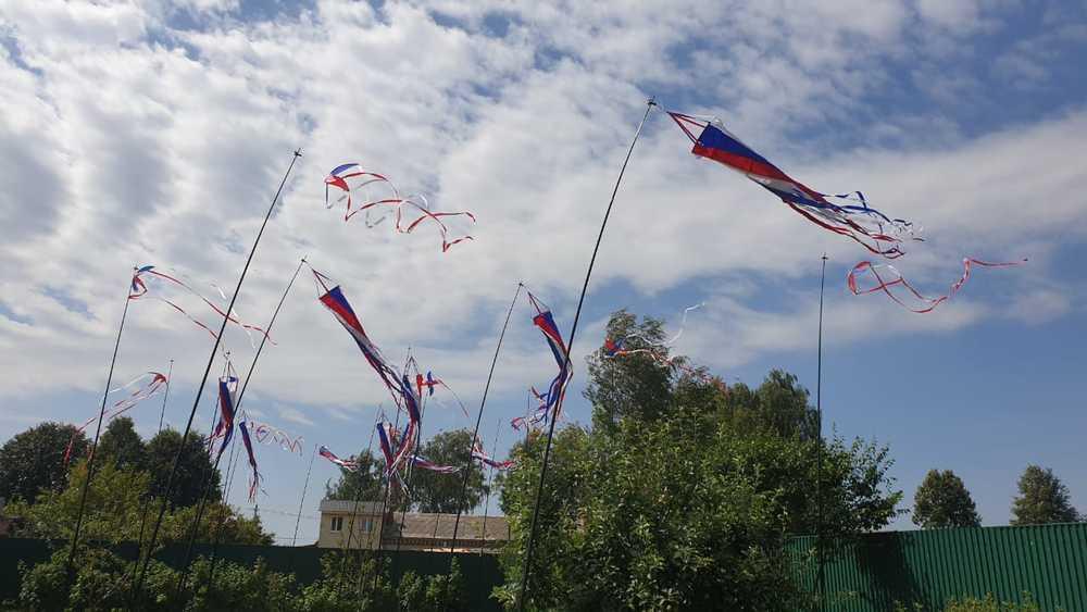 ветряные декорации воздушные змеи