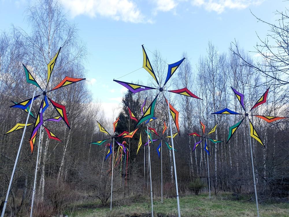 ветряные декорации для мероприятия