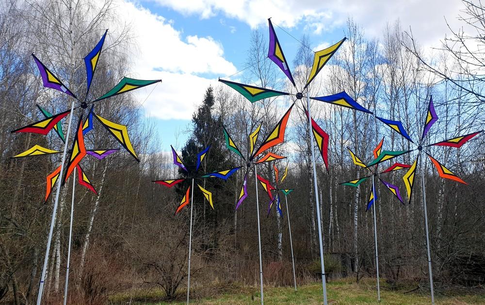фестивальный декор флаги вертушки