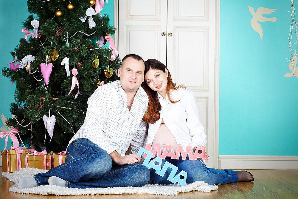 Беременная новогодняя
