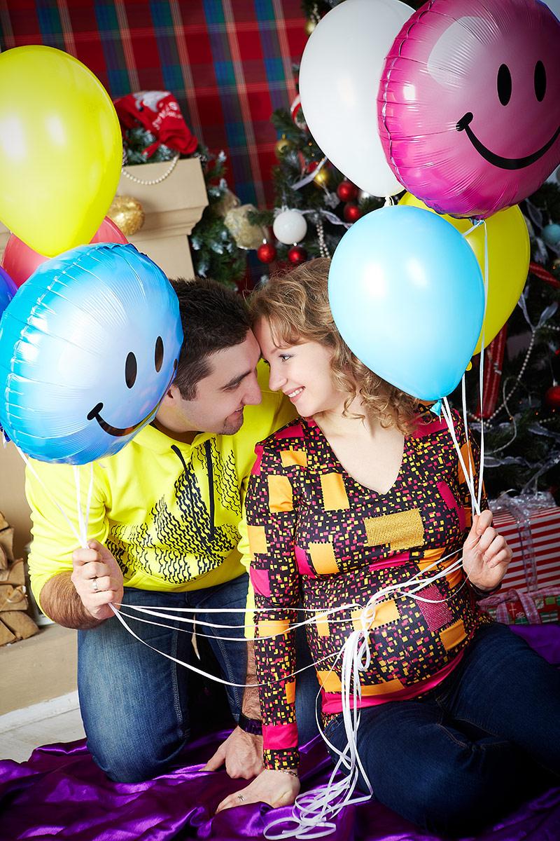 Беременная и воздушные шары