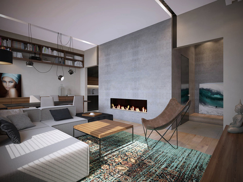 проект квартиры-гостиная