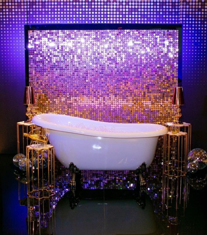 Фотозона «Golden Glamour» с ванной