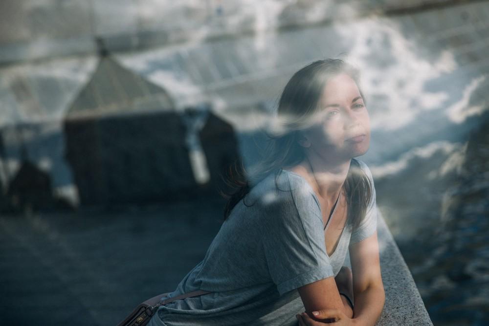 Женский портрет, прогулка. Екатерина