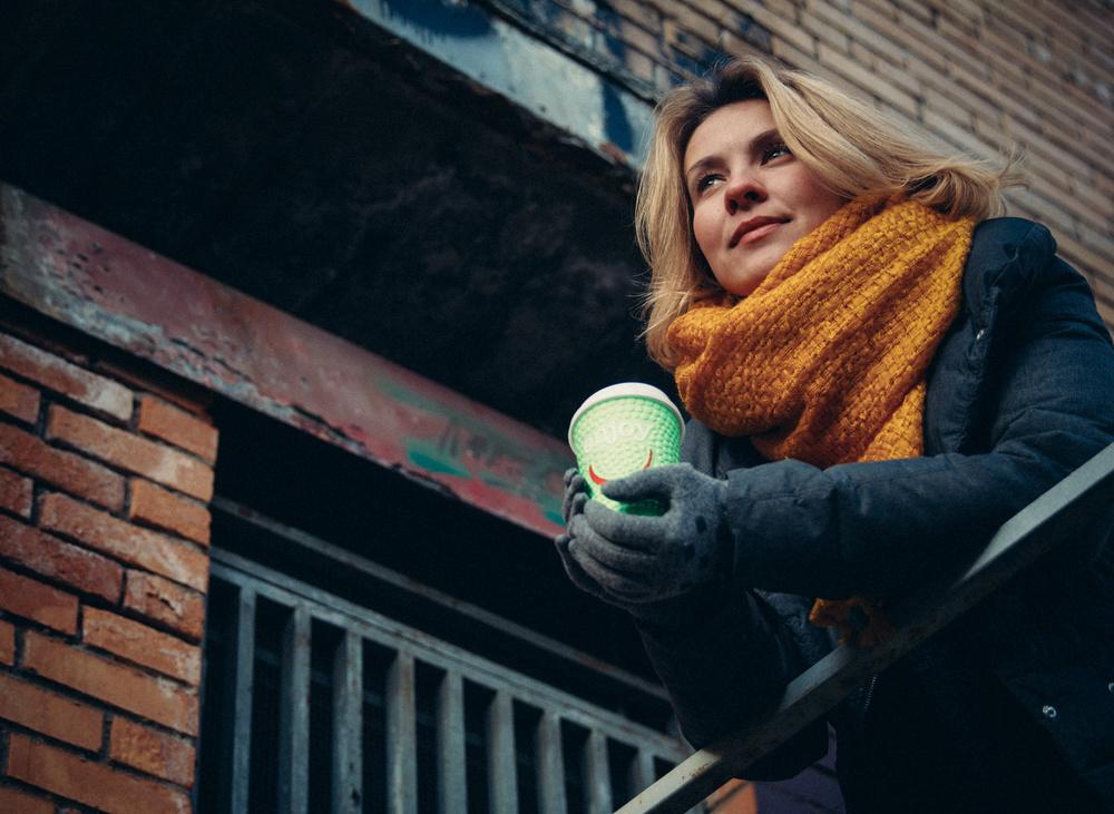 Портрет. Марина. Улица, ноябрь.