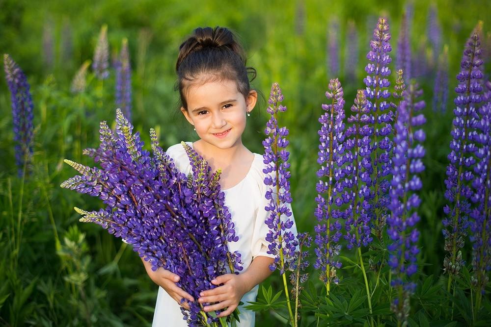 фотосессия в люпинах, детский фотограф, семейный фотограф, москва, анна орлова