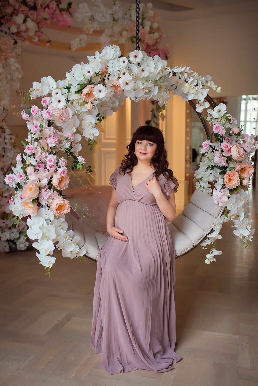 фотосессия, беременности, в студии, сезар, феймос, аренда платьев, все включено, прокат, весенняя