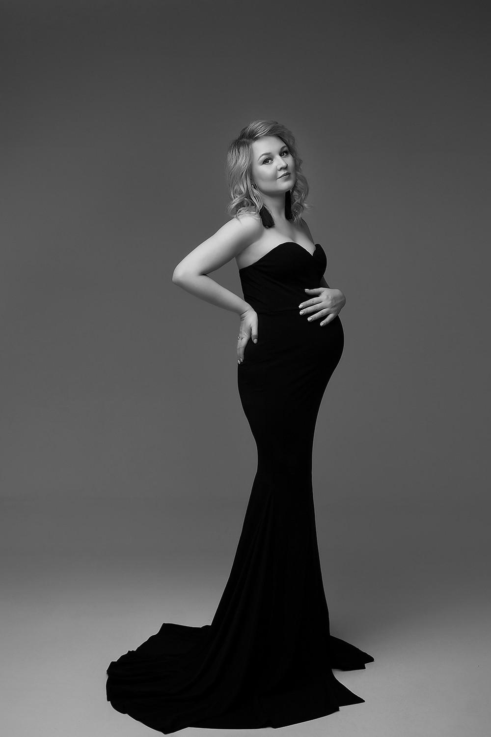 фотосессия, фотограф, беременности, циклорама, в стиле вог, vogue, черно белое фото