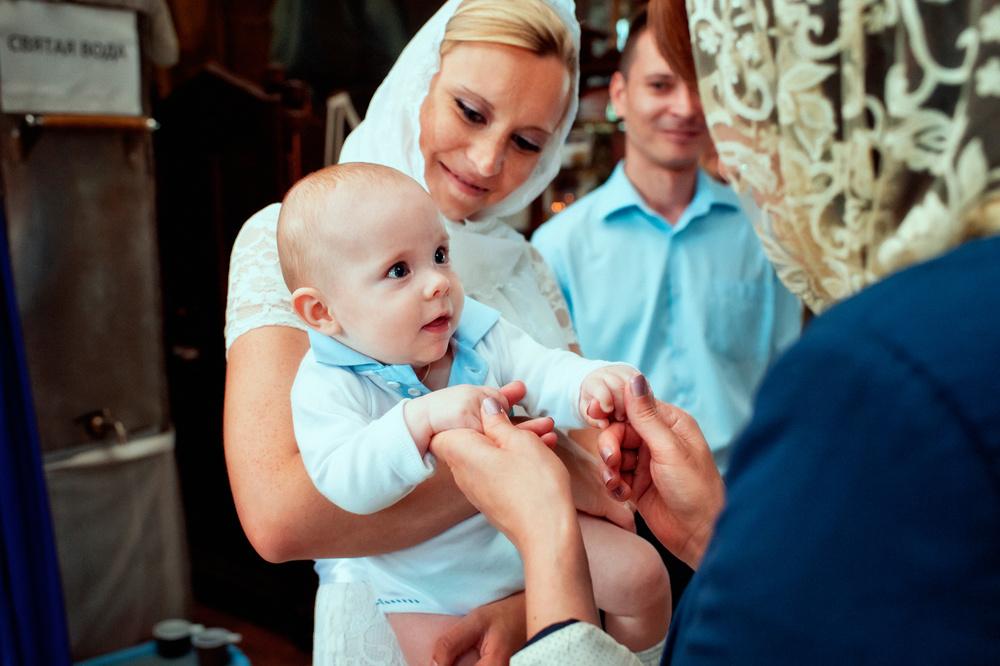 после крещения младенца