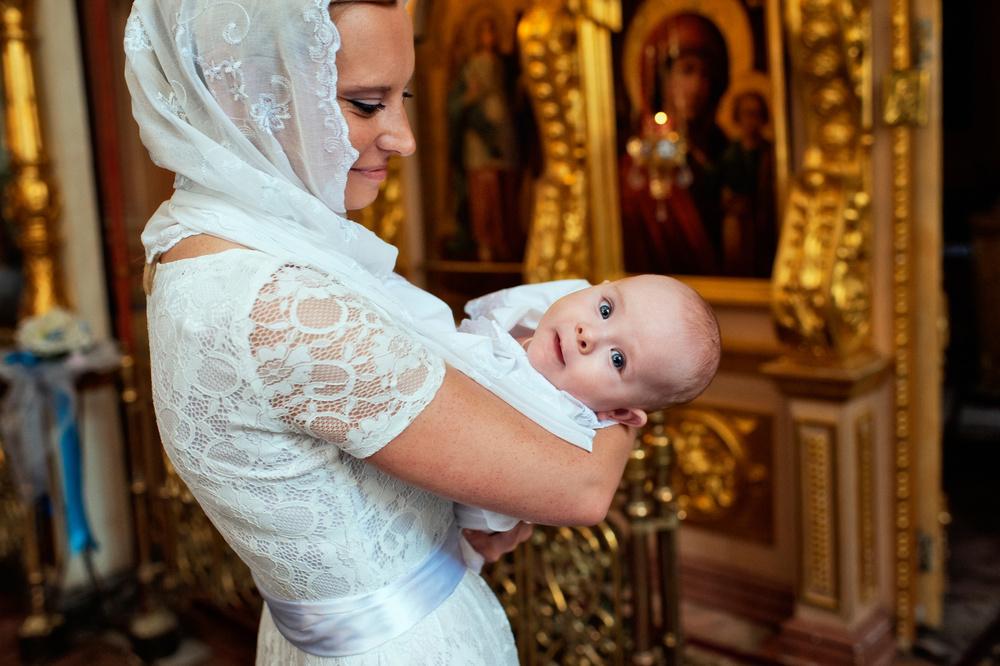 крещение младенца мальчика