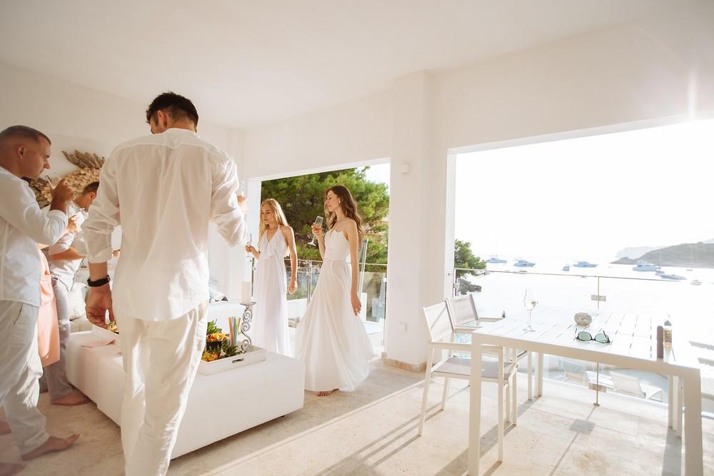 Sant Elm, Mallorca  Three couples and one ceremony