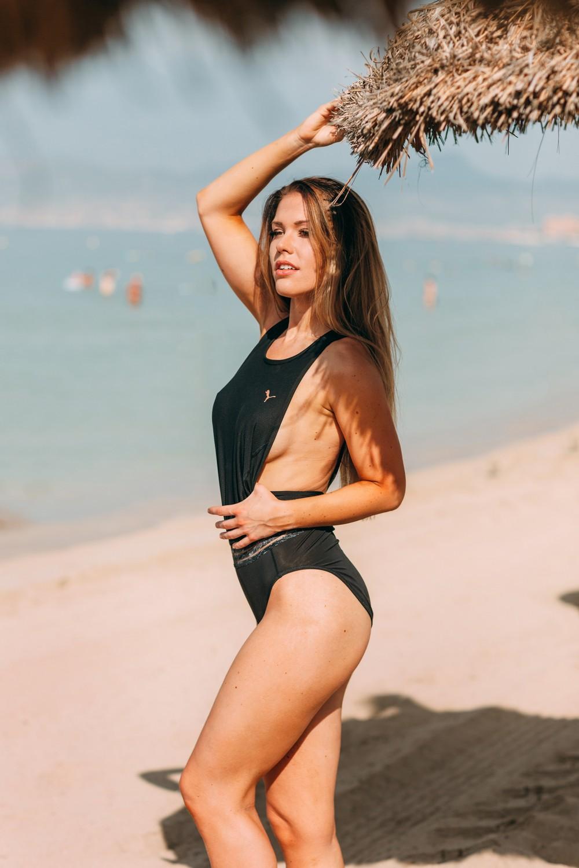 SWIMWEAR ADVERTISING, MALLORCA   MIMOSA fitness model ( Finland)