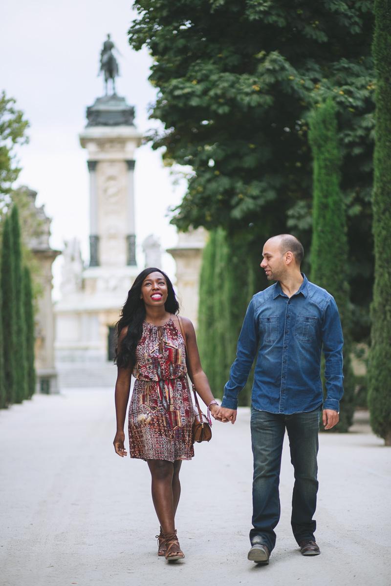 Preboda de Josefa y Javier (Parque del Retiro)