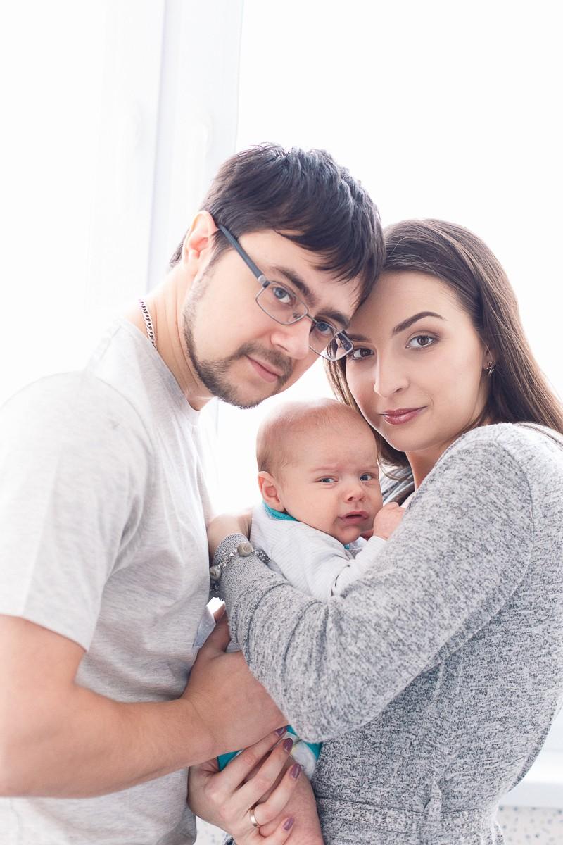 Домашняя фотосессия с новорожденным