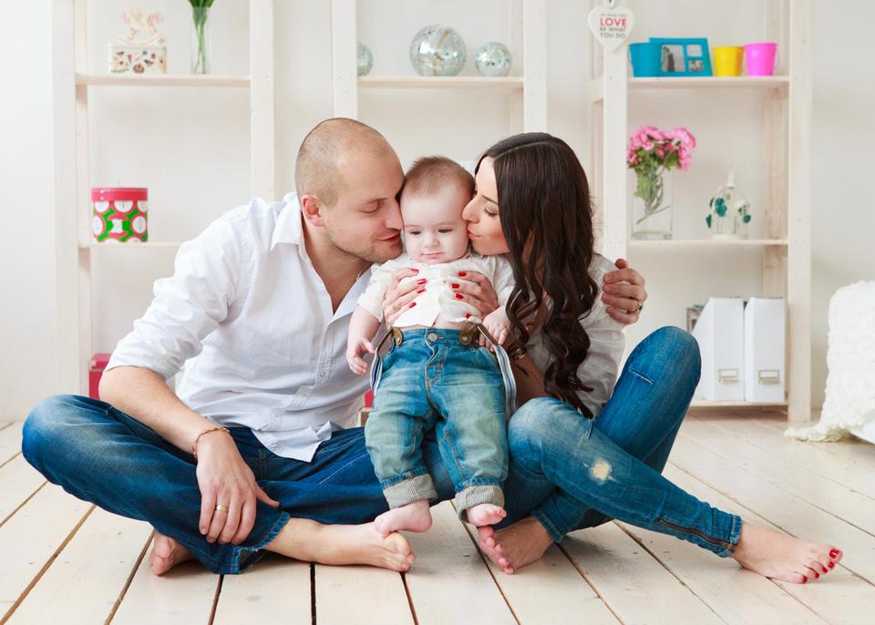 Алёна, Дима и Тёмочка. Семейная фотосессия.