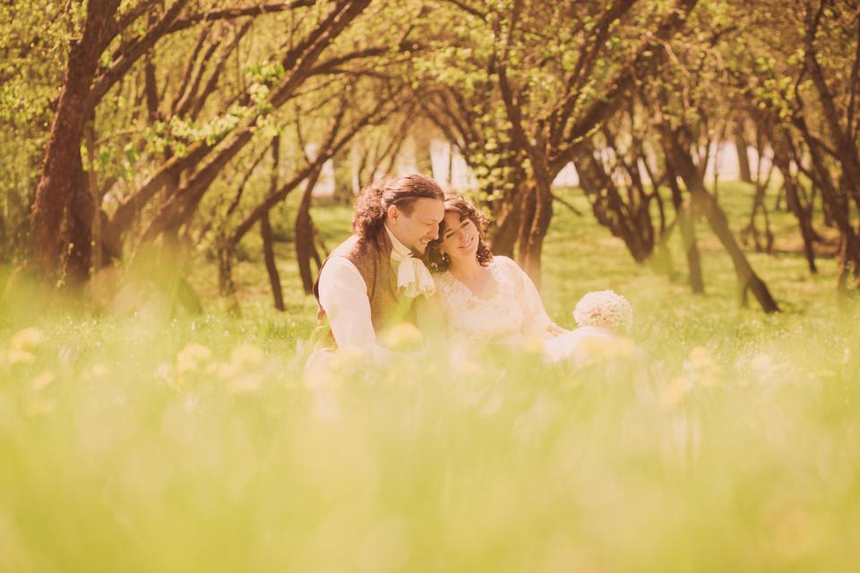 Оля и Паша. Свадьба в стиле Джейн Остин.