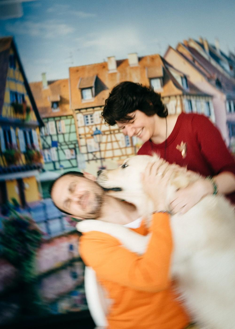 Настя, Фил, кот и пес