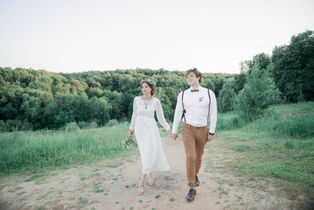 Свадебная фотосессия в стиле рустик