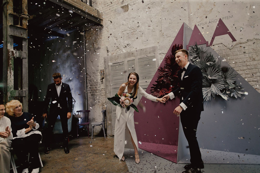 Даша и Артем | Свадьба в двухэтажном лофте