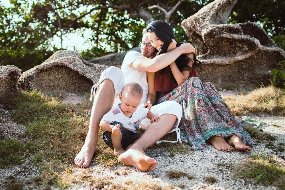 PORTFOLIO - FAMILY/THAILAND - Мартин с мамой и папой,Панган