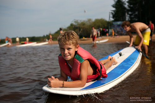 Лето. Серфинг. Волго