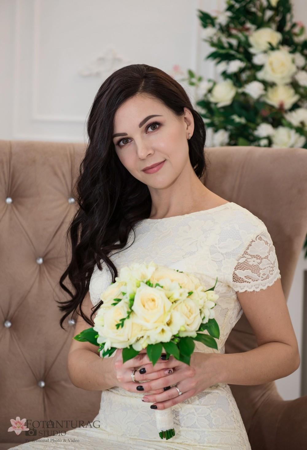 портфолио  - Свадебная фотосессия в студии_Елена